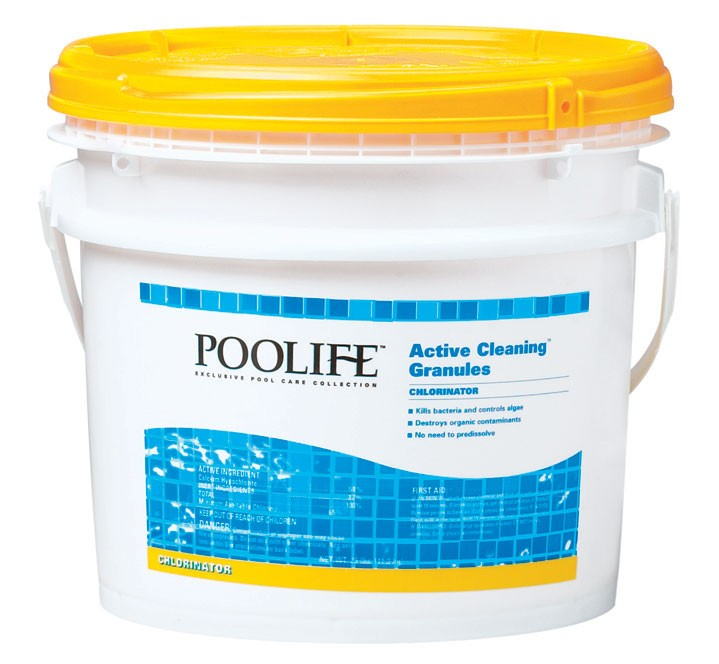 Active cleaning granules 25 pounds chlorine chemicals swimming pool products for Swimming pool cleaning products